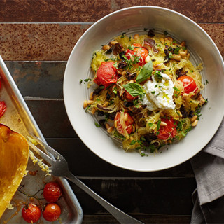 Sheet-Pan Spaghetti Squash Puttanesca