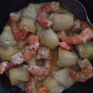 Shrimp and Artichoke in creamy orange vinaigrette