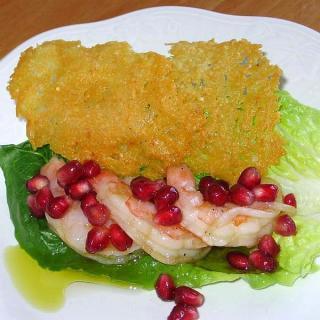 Shrimp Get Dressed Up with Pomegranate Vinaigrette
