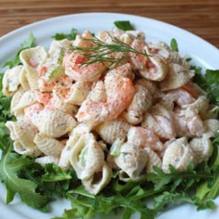 Shrimp & Pasta Shells Salad