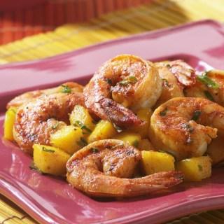 Shrimp with Mango and Basil