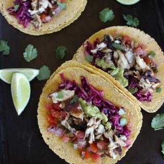 Skinny Fish Tacos with Cilantro Lime Crema