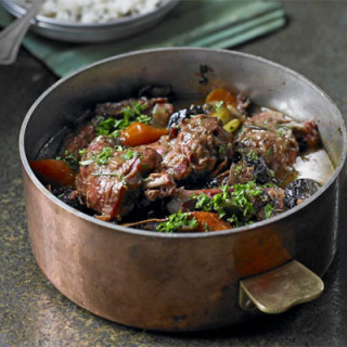 Slow-cooked rabbit stew