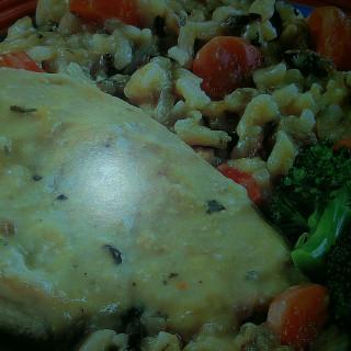Slow Cooker Creamy Chicken & Wild Rice