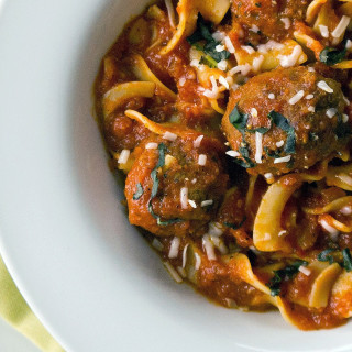 Slow-Cooker Parmesan Meatballs and Noodles