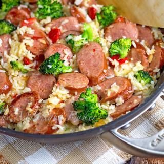 Smoked Sausage and Cheesy Rice