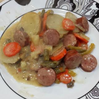 Smoked Sausage and Potato Bake (Mom)