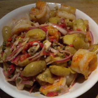 Smoky Skillet Shrimp with Spanish Potato Salad