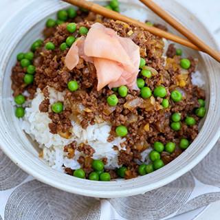 Soboro Donburi (Miyazakigyu Wagyu Ground Beef Over Rice)