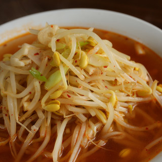 Soybean Sprout Soup with Kimchi (Kimchi Kongnamul Guk)