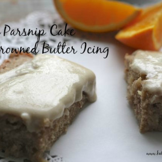 Spiced Parsnip Cake with Browned Butter Icing