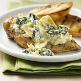Spinach and Artichoke Topped Chicken