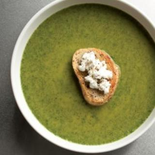 Spinach  and  Goat Cheese Bisque