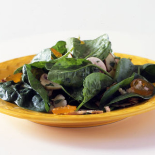 Spinach Salad with Almonds and Kumquats