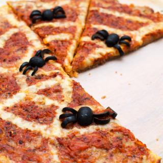 Spooky Spiderweb Pizza