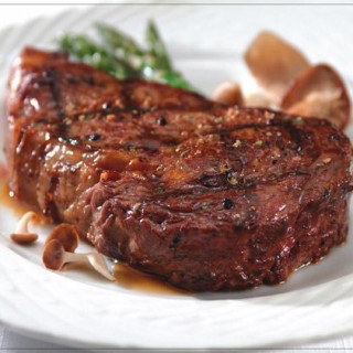 Steakhouse Rib-Eye's (with carmelized onions and mushrooms)