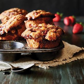 Strawberry Balsamic Muffins