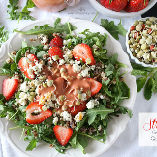 Strawberry Goat Cheese Quinoa Salad with Strawberry Balsamic Dressing