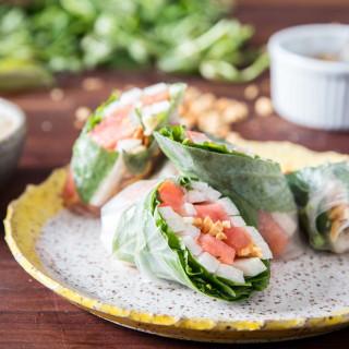 Summer Rolls With Jicama, Watermelon, and Herbs Recipe