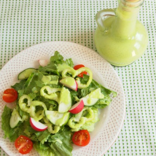 Summer Salad with Creamy Parsley Dressing