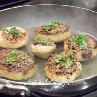 Syrian Stuffed Artichokes with Beef and Pine Nuts