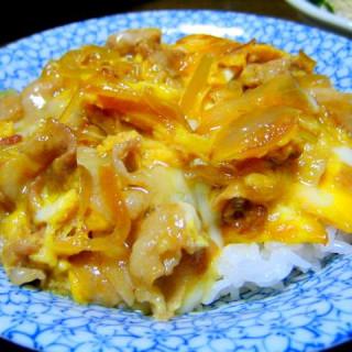 Tanindon (Beef or Pork and egg on rice)