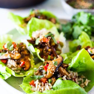 Teriyaki Mushroom Lettuce Wraps