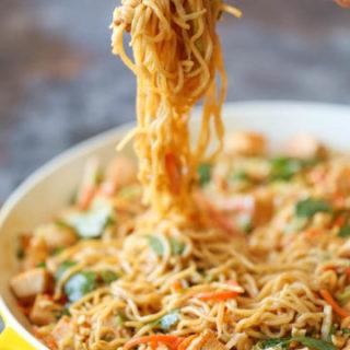 Thai Peanut Chicken Noodles