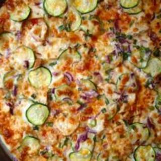 Thin-Crust Thai Chicken Pizza (like Papa Murphy's)