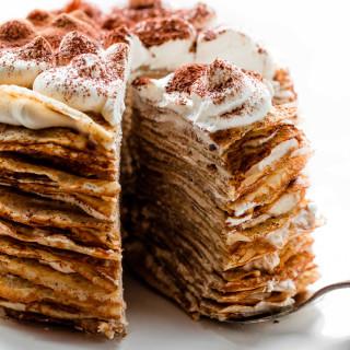 Tiramisu Crepe Cake Recipe