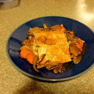 Tofu Steak with Shiitake Sauce