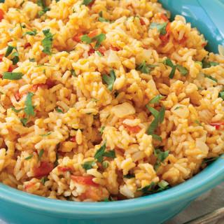 Tomato Garlic Rice Pilaf