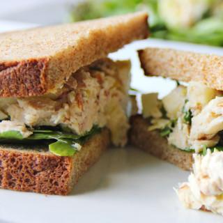 Tuna and Hummus Sandwich