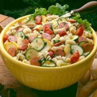 Turkey Franks and Pasta Salad
