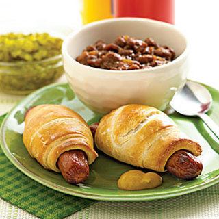 Turkey Franks with Molasses Baked Beans