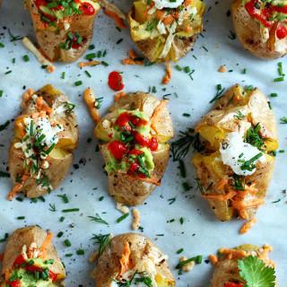 Two-Bite Vegan Baked Potatoes