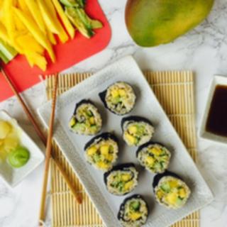 Vegan Avocado Mango Cucumber Sushi Recipe