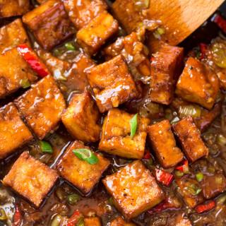 Vegan black pepper tofu