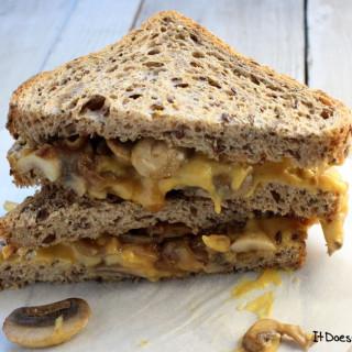 Vegan Caramelized Onion & Mushroom Grilled Cheese