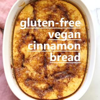 Vegan Gluten free Cinnamon Roll Bread Yeast-Free