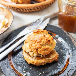 Vegan maple syrup breakfast scone