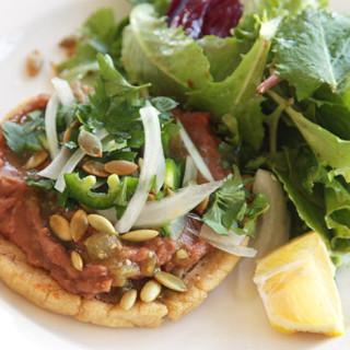 Vegan Sopes With Refried Beans and Salsa Verde Recipe