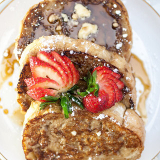 Vegan Spiced Chai French Toast