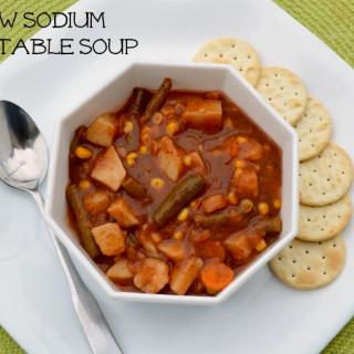 Vegan Vegetable Soup {Low Sodium}