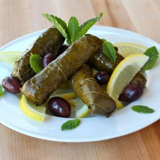 Vegetarian Grape Leaves (Dolmades)