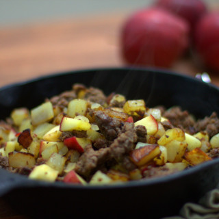 Venison Sausage Hash with Potatoes and Apples