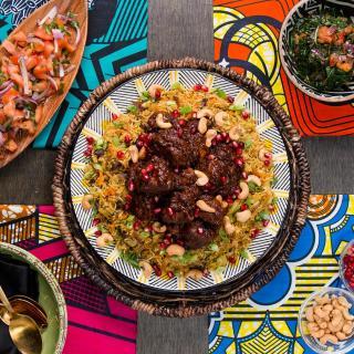 Wakandan Jeweled Vegetable Pilau With Berbere Braised Lamb Recipe by Tasty