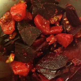 Warm Beet-Orange Salad