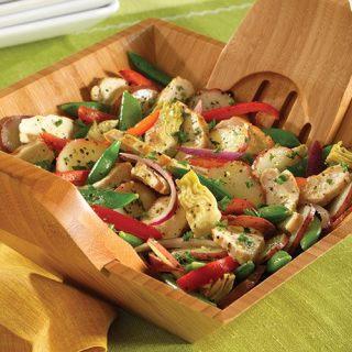 Warm Lemon Pepper Chicken Salad
