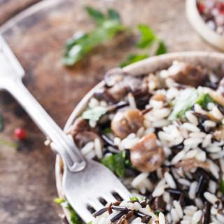 Wild Rice with Wild Mushrooms